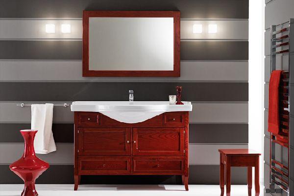 Eban s r l produzione mobili arredo bagno accessori e for Arredo bagno rosso